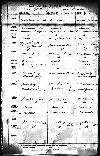 Marriage record of Andrew Hastings and Clara Grafton